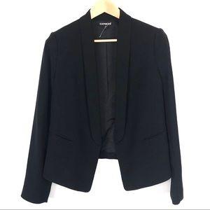 NEW Express Open Front Black Blazer 10